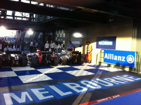 Zeltboden Typ Rip-TEC in der Formel 1 in Melbourn